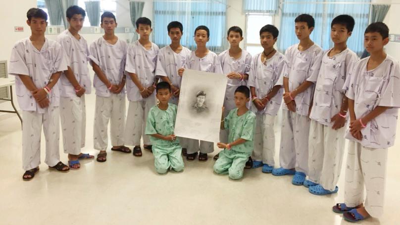 Thai Football Team Learn Of The Death Of Rescuer Saman Kunan
