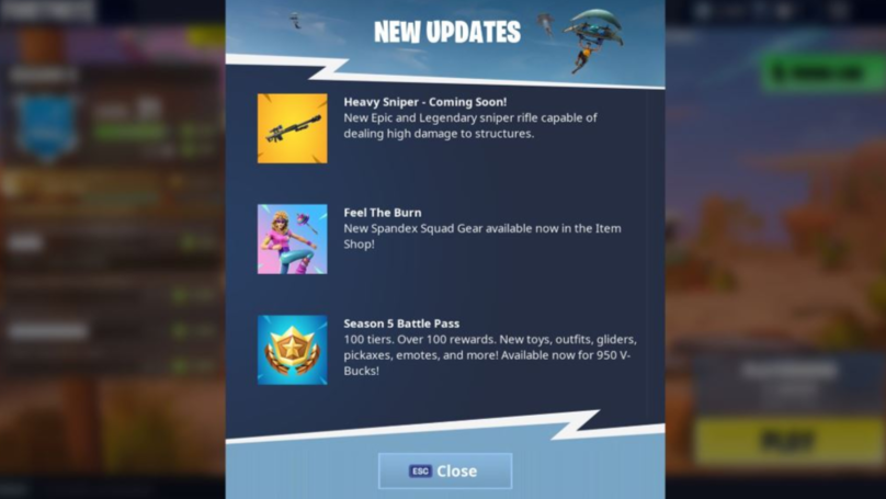 '​Fortnite' Will Be Getting A Heavy Sniper In Next Update, Leaked Footage Reveals