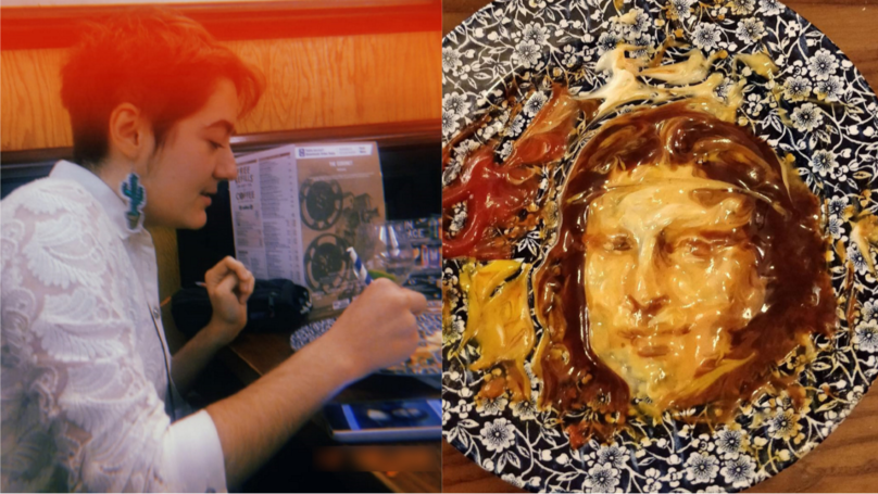 Teen In Wetherspoon Pub Creates 'Mayo Lisa' And 'Frida Ketchup' Out Of Condiments
