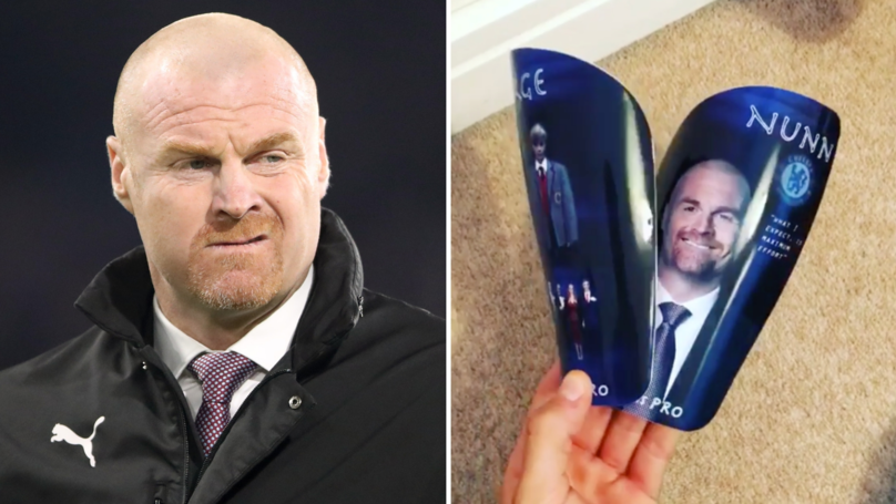 Chelsea Player Has Sean Dyche's Face On His Shin Pads And It's Incredible