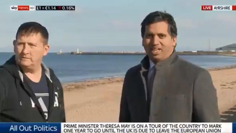 Hilarious Scottish Man Interrupts Sky News Reporter On Live TV