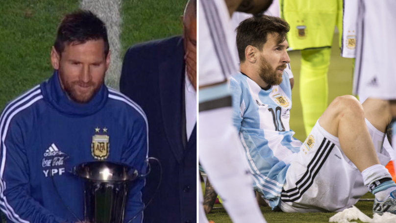 Lionel Messi Actually Won His First International Trophy On Saturday