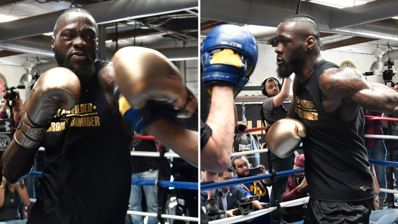 Boxing Fans Are Worried For Deontay Wilder After New Footage Emerges Of Him Training