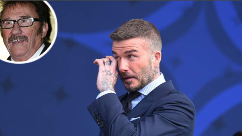 Fans Are Convinced That David Beckham's Reflection Is Paul Chuckle