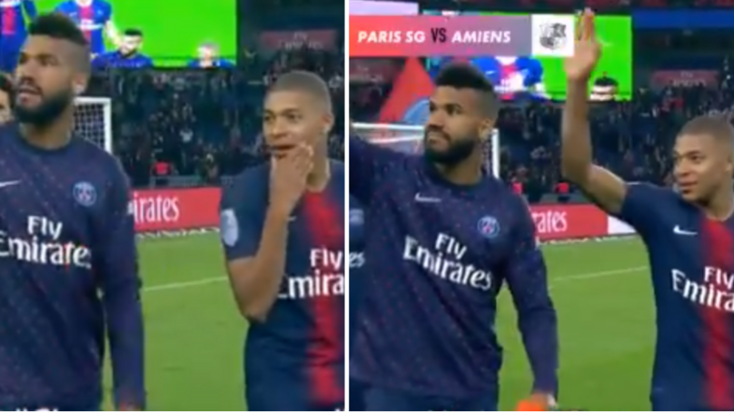 Eric-Maxim Choupo Moting Trolls Kylian Mbappe, Gets Him To Wave At Random Woman