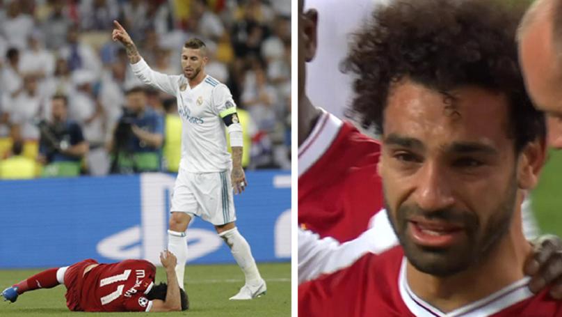 Mohamed Salah Suffers Injury In Champions League Final, Leaves Field In Tears