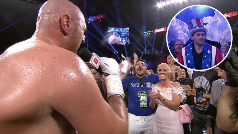 Tyson Fury goes full Apollo Creed and sings Aerosmith in entertaining Las Vegas debut