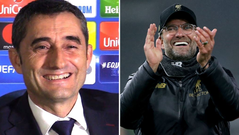 How Ernesto Valverde Reacted To Barcelona Avoiding Liverpool In The Champions League