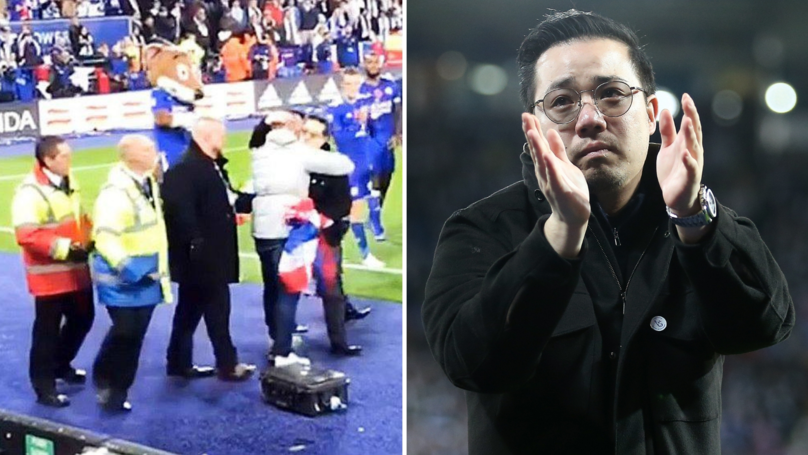 Leicester City Fan Banned After Invading Pitch To Hug Vichai Srivaddhanaprabha's Son