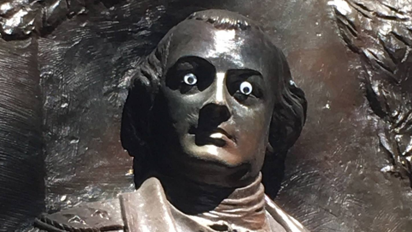 Police On The Hunt For Whoever Put Googly Eyes On Statue
