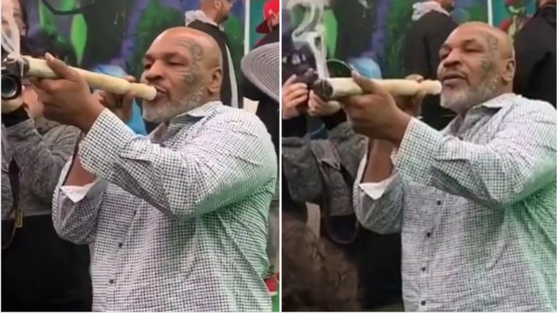 Mike Tyson Smokes Foot-Long Joint At Marijuana Festival