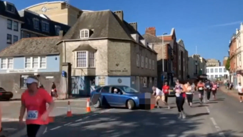 Woman Explains Her Decision To Drive Across Plymouth Half Marathon Course