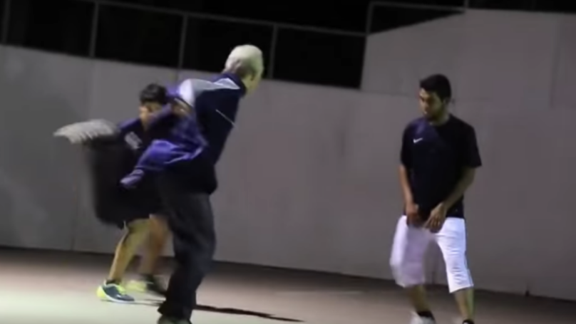 Old Man Joins In 5-A-Side Game And Wipes The Floor With Everyone