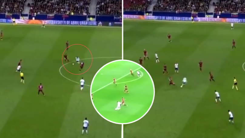 Lionel Messi Glides Past Venezuela Players With His Incredible Dribbling Skills