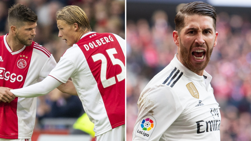 Ajax Players' Strategy To Get Sergio Ramos Banned Has Paid Off