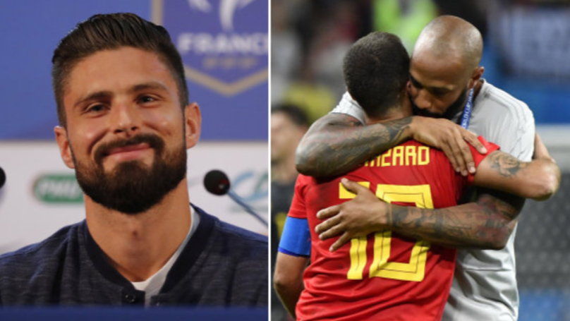 What Olivier Giroud Has Said About Thierry Henry Coaching Belgium Is Brilliant