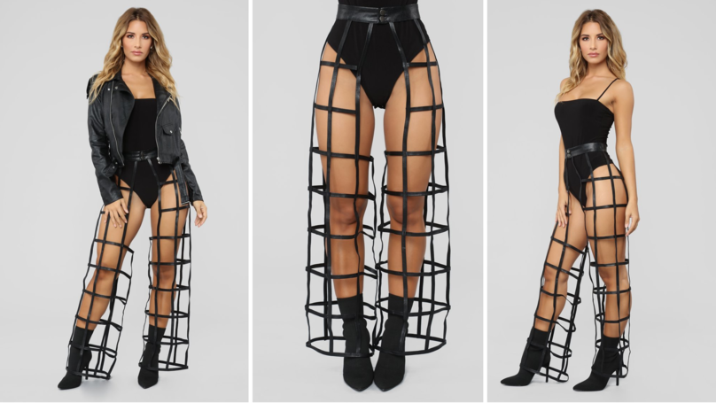 Fashion Nova Baffles The Internet With New Cage-Style 'Trousers'