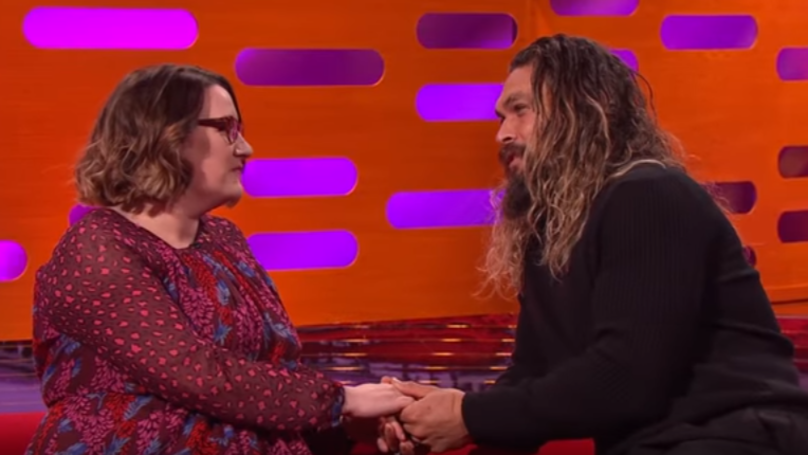 Jason Momoa Speaks Dothraki To Sarah Millican And Hugh Grant