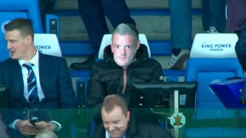 Jamie Vardy Had The Best Reaction To The 30,000 Jamie Vardy Masks At Leicester