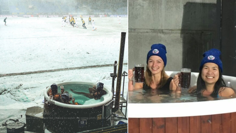 Hobro IK Offer Fans The Chance To Watch Game Pitch-Side In A Jacuzzi With Beers