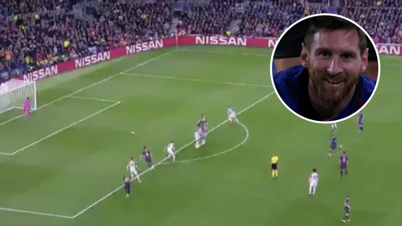Lionel Messi Scores The Most Incredible Free Kick Against Liverpool