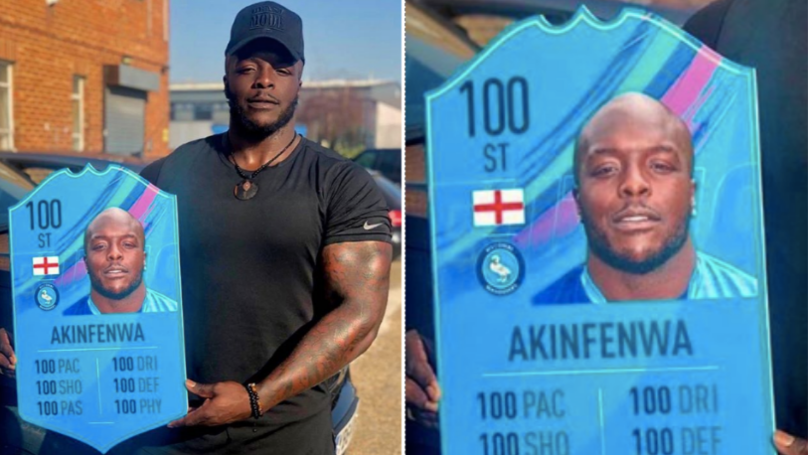 Adebayo Akinfenwa Becomes First Player To Receive 100-Rated FIFA Card