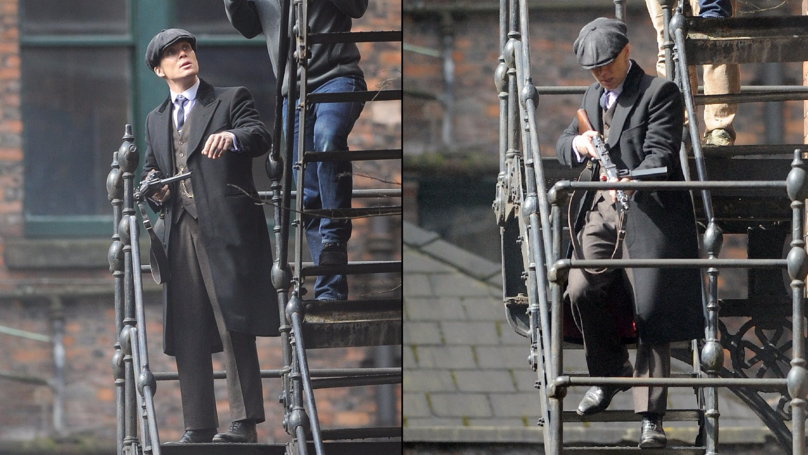 'Peaky Blinders' Seen Filming Shoot Out In Manchester's Northern Quarter