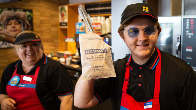 Lewis Capaldi Serves Pasties To Fans At Greggs