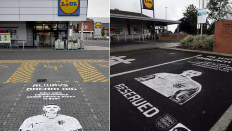 Kieran Trippier And Jordan Pickford Given Their Own Reserved Parking Space Outside Lidl