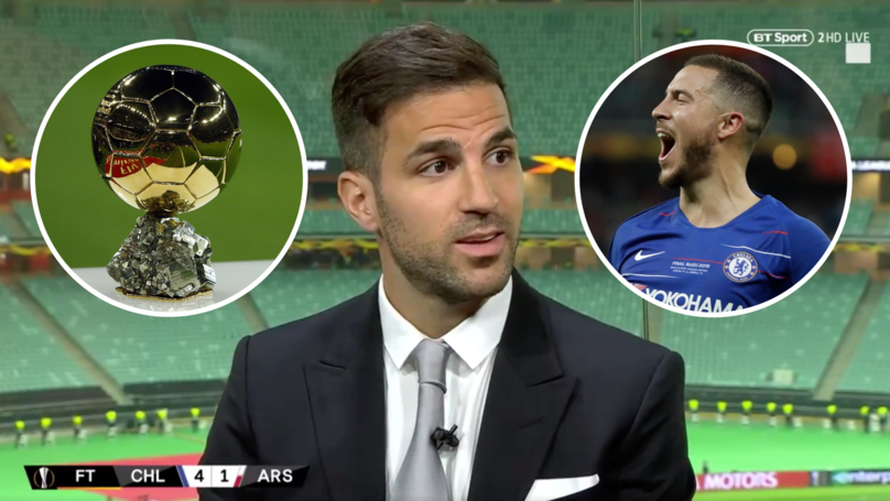 Eden Hazard Could Challenge For The Ballon d'Or At Real Madrid, Says Cesc Fàbregas