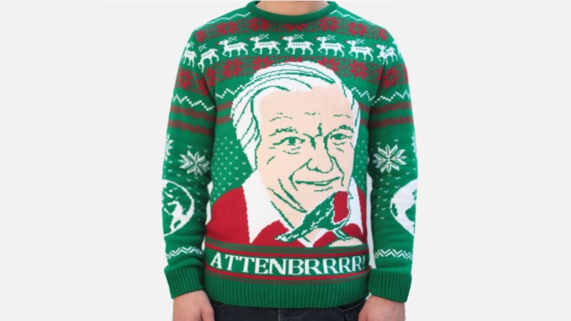 This David Attenborough Christmas Jumper Is Festive Clothing Perfection
