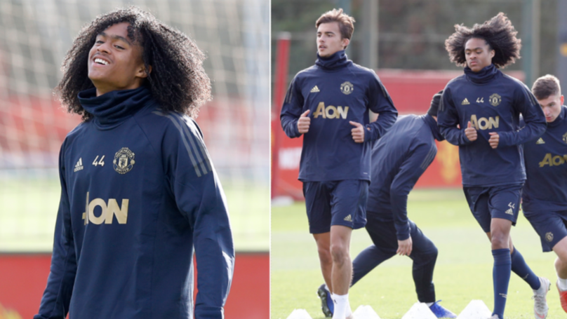 Tahith Chong Spotted Training With Manchester United's First Team Ahead Of Juventus Tie