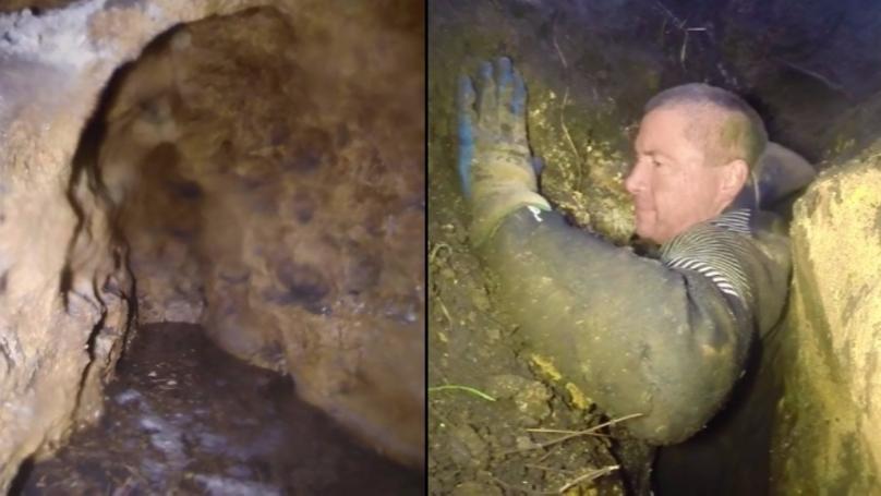 Video Footage Shows Exploration Of Incredible Australian Claustrophobic Cave