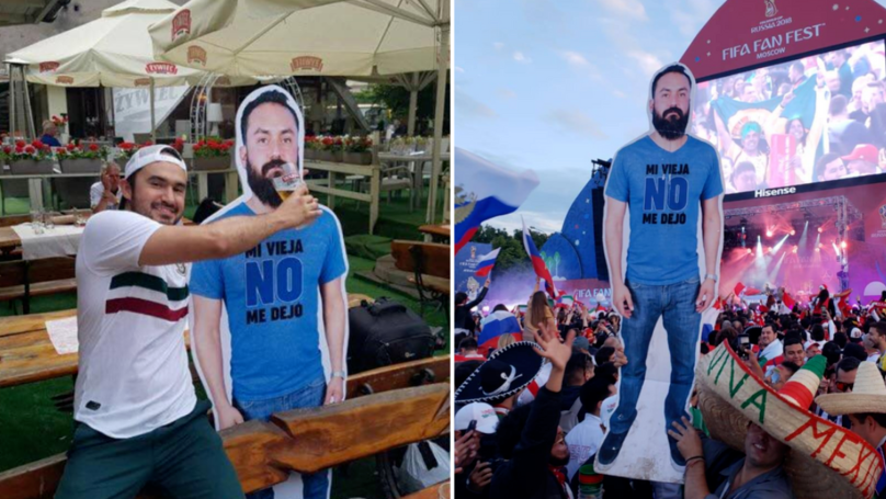 Mexican Fans Took Cardboard Cut Out Of Friend To World Cup