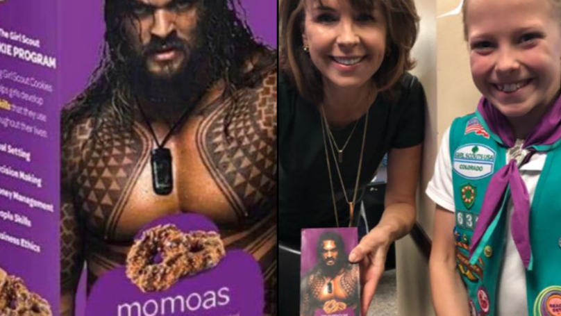 Girl Scout Sells Tons Of Samoa Cookies After Rebranding Them With Jason Momoa