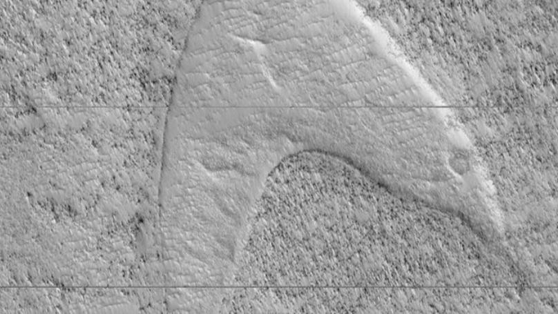 NASA Shares Photo Of Mars Dune Which Looks Like Star Trek Symbol