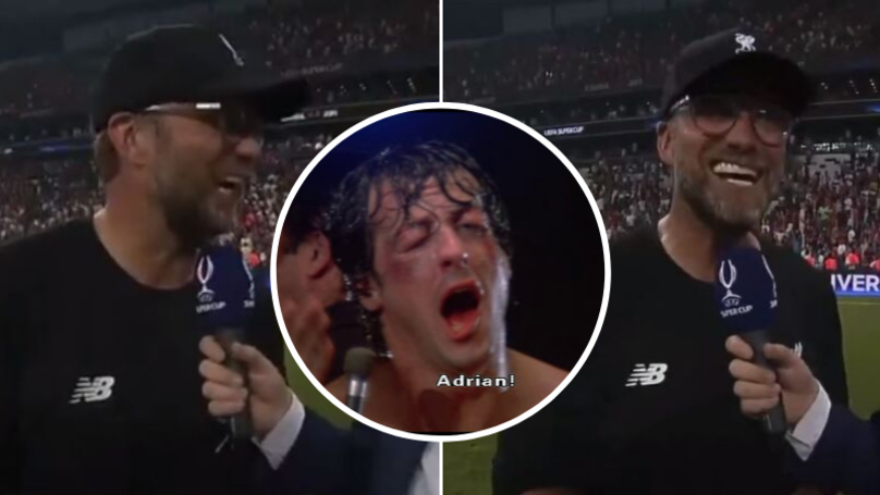 Jurgen Klopp Hilariously Goes 'Full Rocky Balboa' After Adrian's Heroics In Super Cup