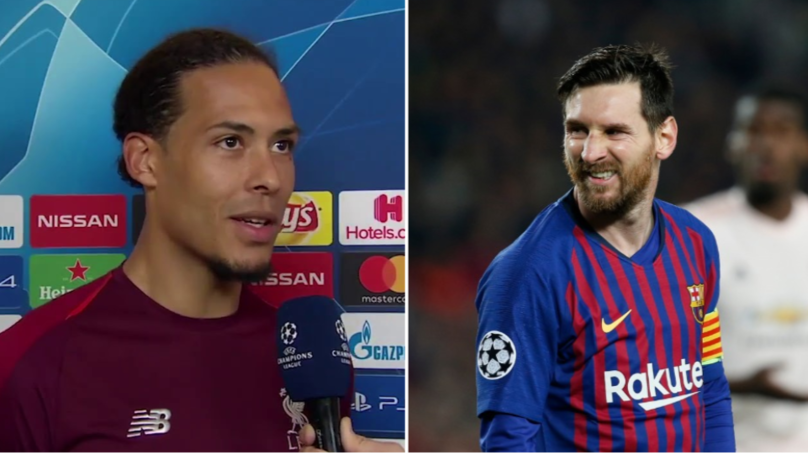 How Virgil van Dijk Reacted When Asked About Facing Lionel Messi
