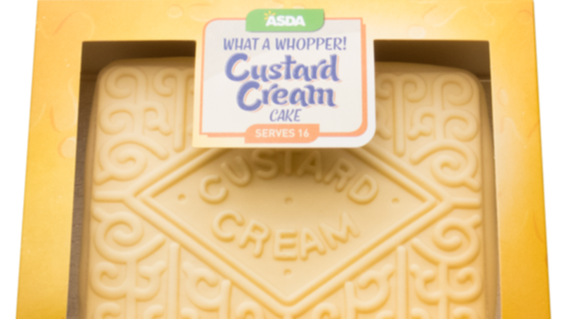 ASDA Is Selling A Huge Custard Cream Cake That Also Tastes Like The Biscuit