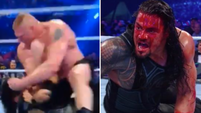 Roman Reigns Left A Bloody Mess After Brutal Elbow Attack From Brock Lesnar
