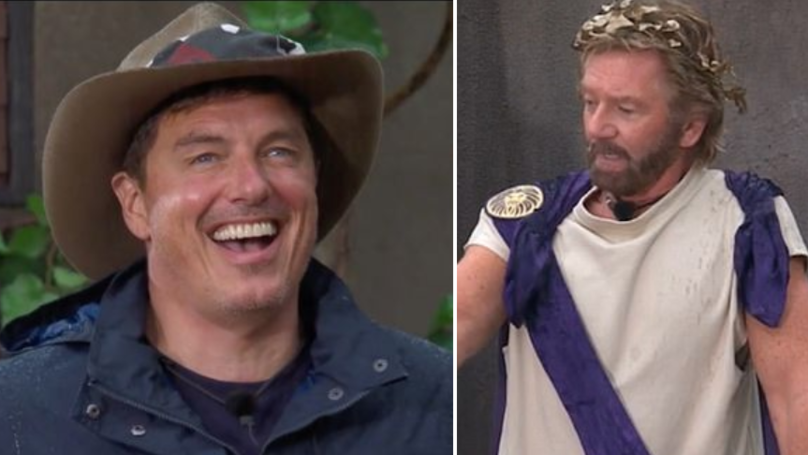 Noel Edmonds Tells John Barrowman Not To 'Scratch His Groin' On I'm A Celebrity