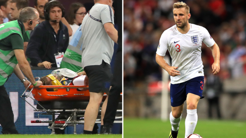 Luke Shaw Claims He'll Be Back In Update After Being Stretchered Off