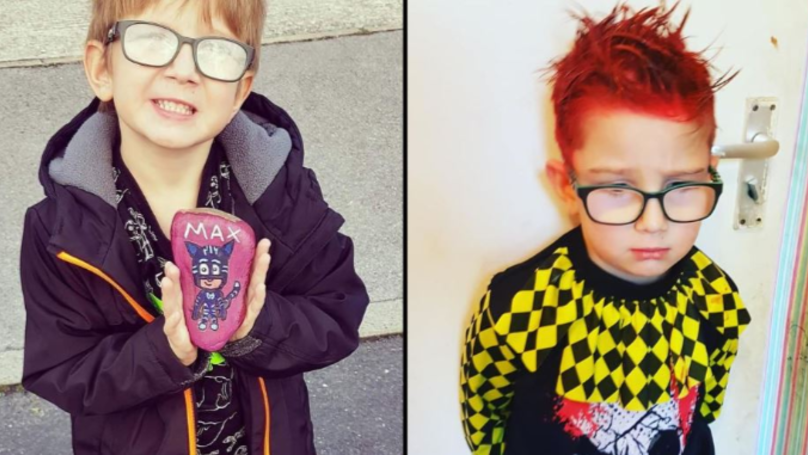 Mum Panics After Hair Spray Mix-Up Almost Ruins Six-Year-Old Son's Halloween
