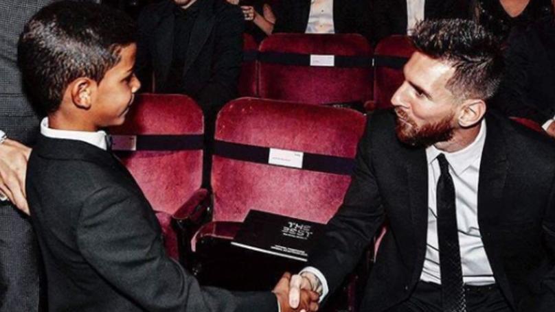 Cristiano Ronaldos Son Posts Amazing Instagram Message To Lionel Messi Sportbible
