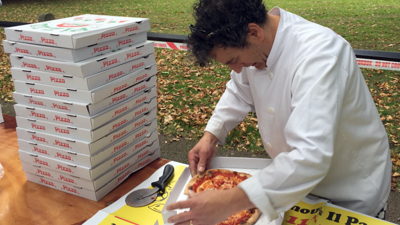 LAD Chef Brings Pizza To Emergency Service Workers At Parsons Green