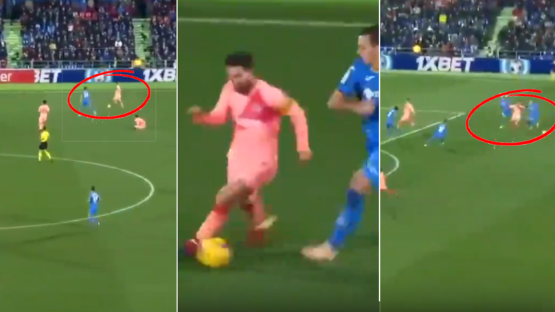 Lionel Messi's Ball Control, Pace, Dribbling And Strength In This 90th Minute Run Is Remarkable