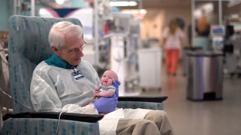 ​81-Year-Old Man Who Cuddles Poorly Babies Donates $1M