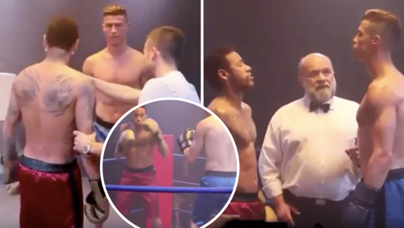 Cristiano Ronaldo And Neymar Go Head To Head In The Boxing Ring