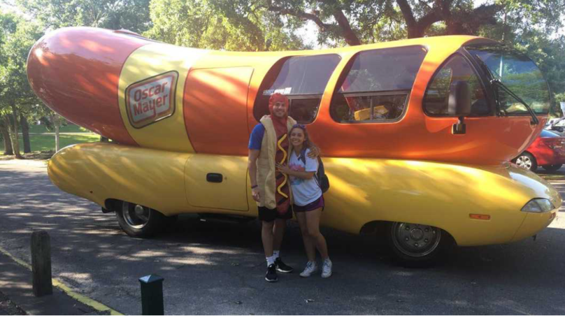 This Prank-Playing LAD Picked Up His Girlfriend From Class In A Giant Hot Dog