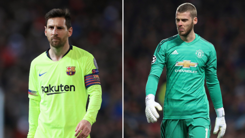 Lionel Messi Forces David De Gea To Change His Preparation In Training